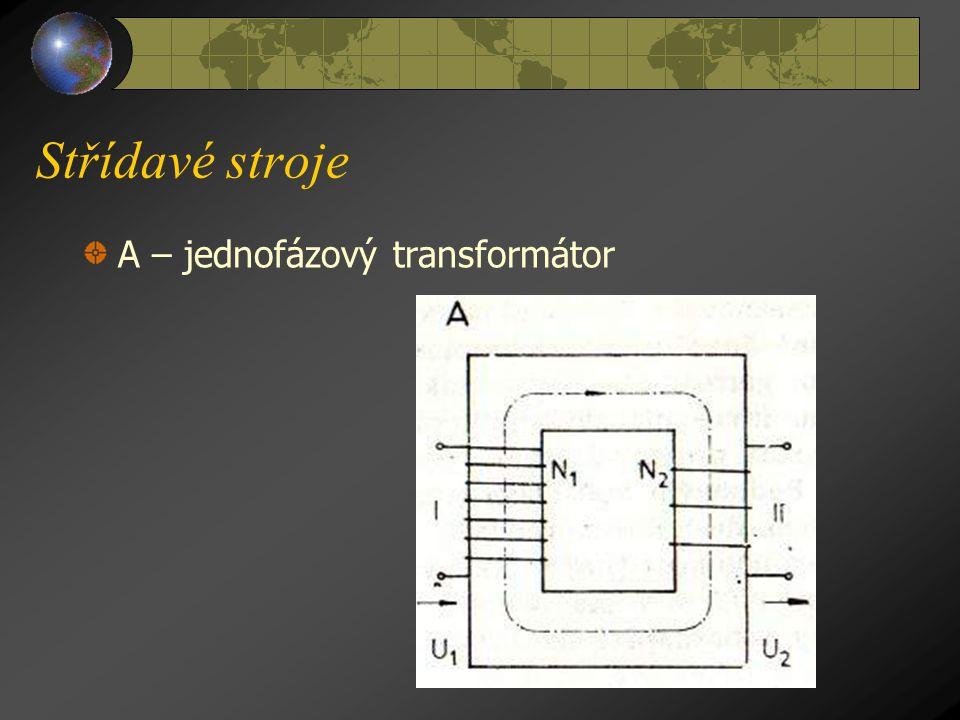 Střídavé stroje A – jednofázový transformátor