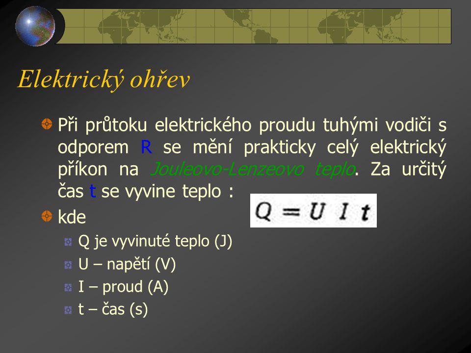 Elektrický ohřev