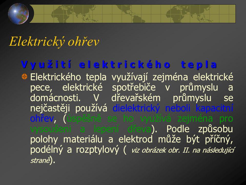 Elektrický ohřev V y u ž i t í e l e k t r i c k é h o t e p l a