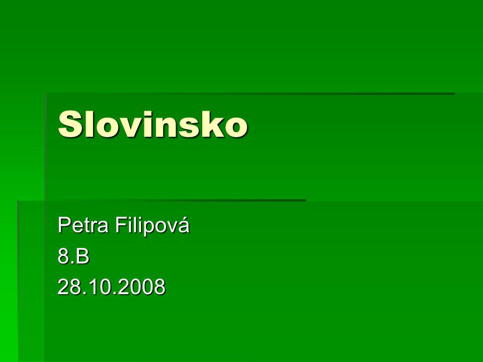 Slovinsko Petra Filipová 8.B 28.10.2008