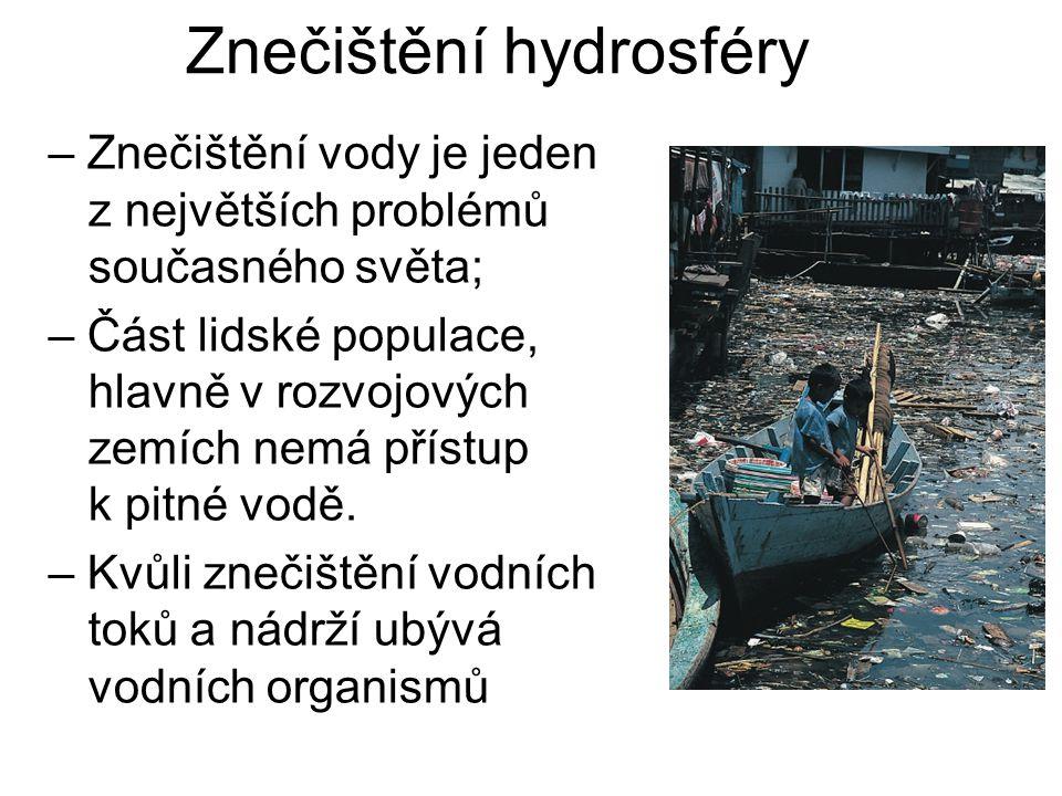 Znečištění hydrosféry