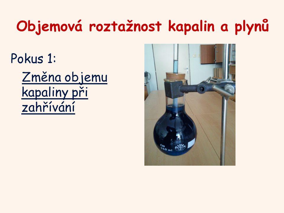 Objemová roztažnost kapalin a plynů