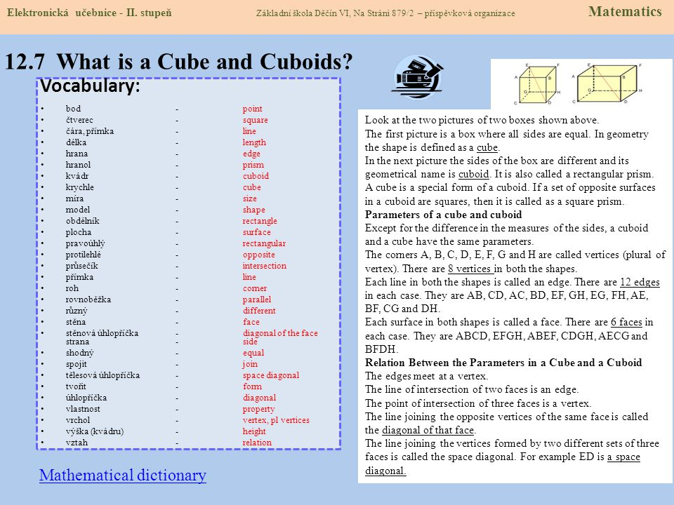 12.7 What is a Cube and Cuboids