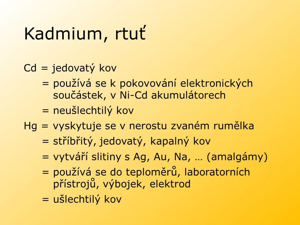 Kadmium, rtuť