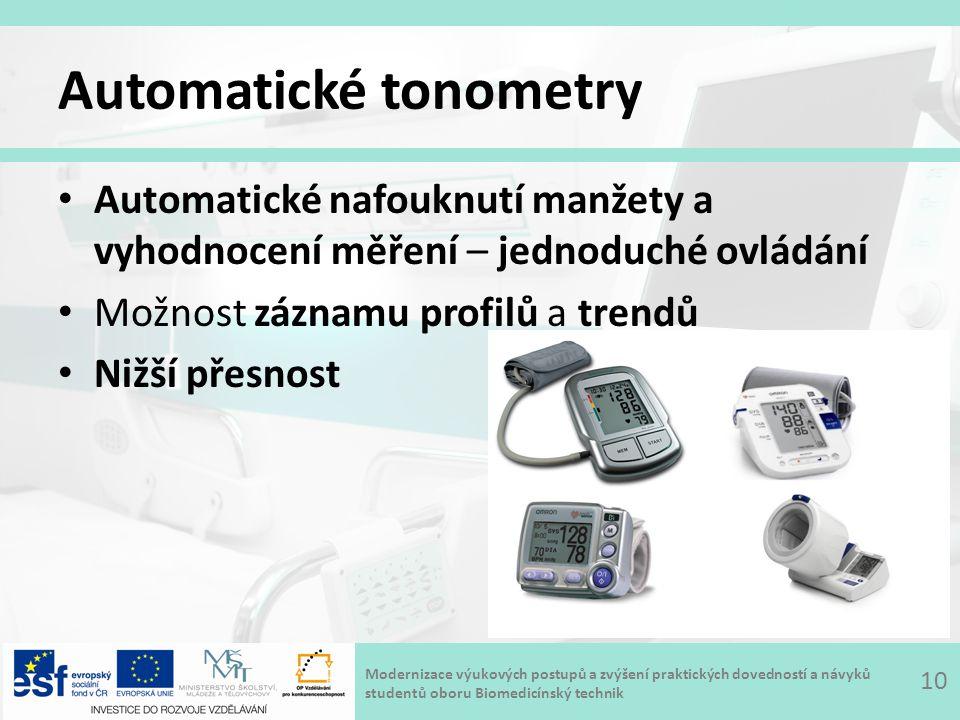 Automatické tonometry