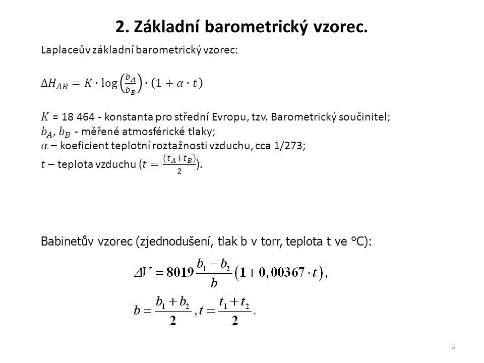 2. Základní barometrický vzorec.