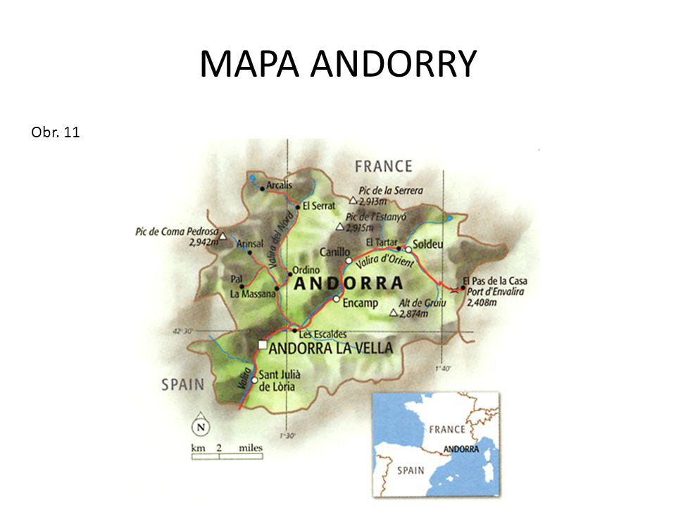 MAPA ANDORRY Obr. 11