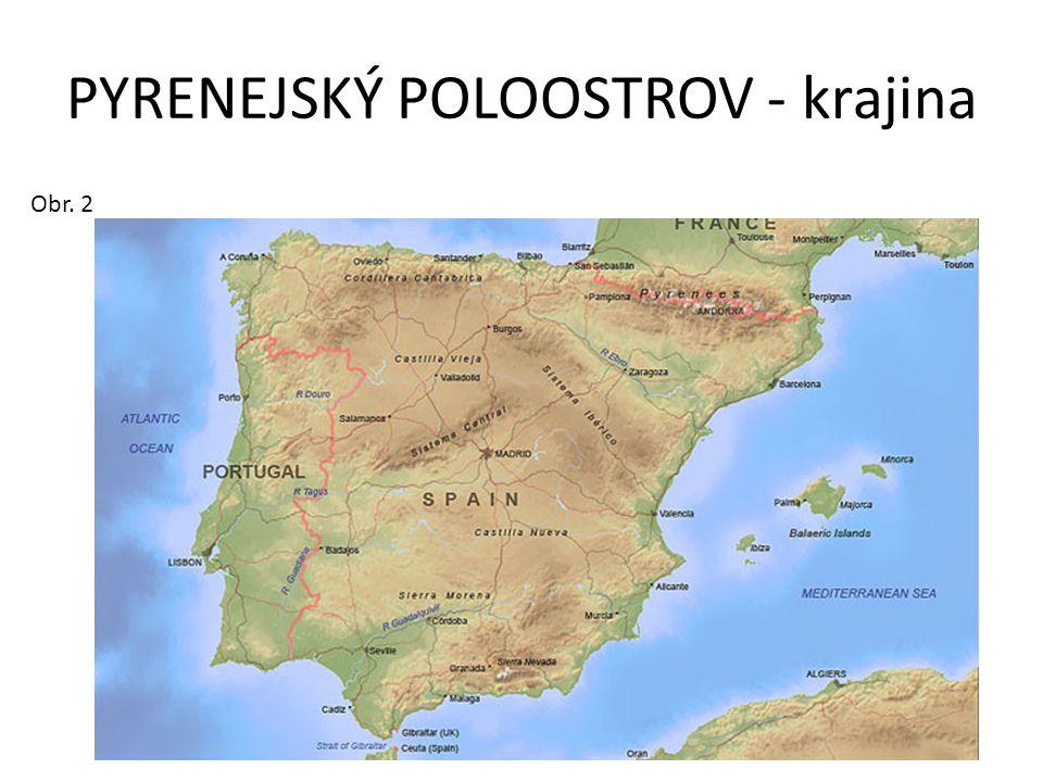 PYRENEJSKÝ POLOOSTROV - krajina
