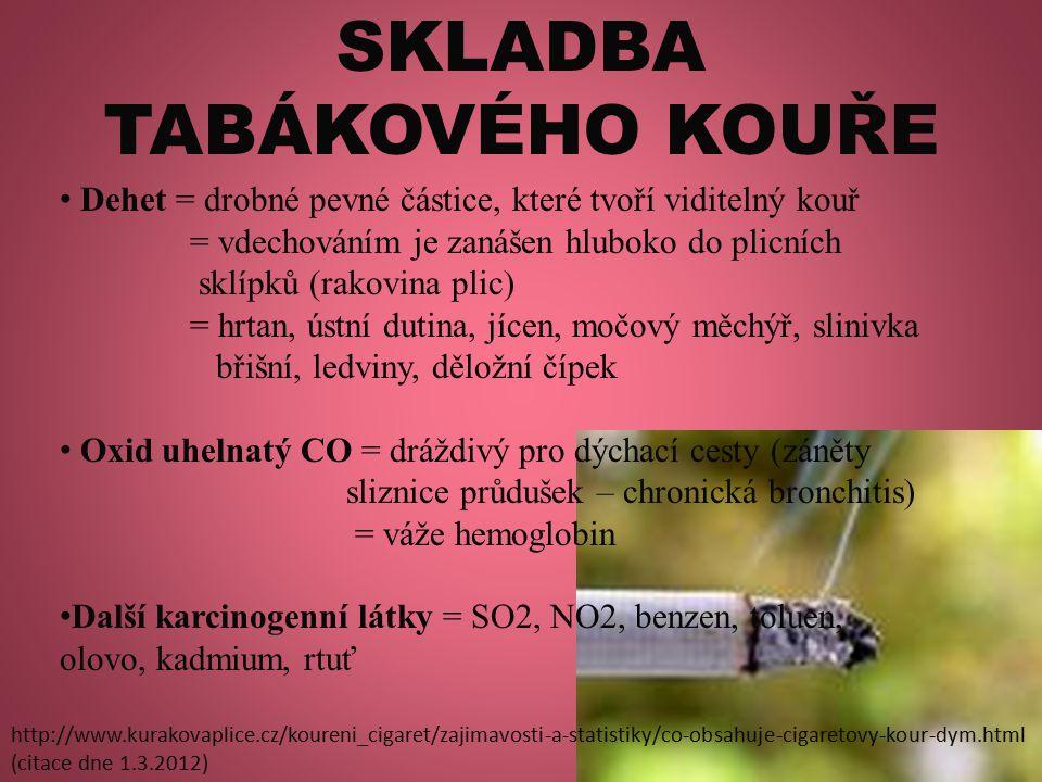 SKLADBA TABÁKOVÉHO KOUŘE