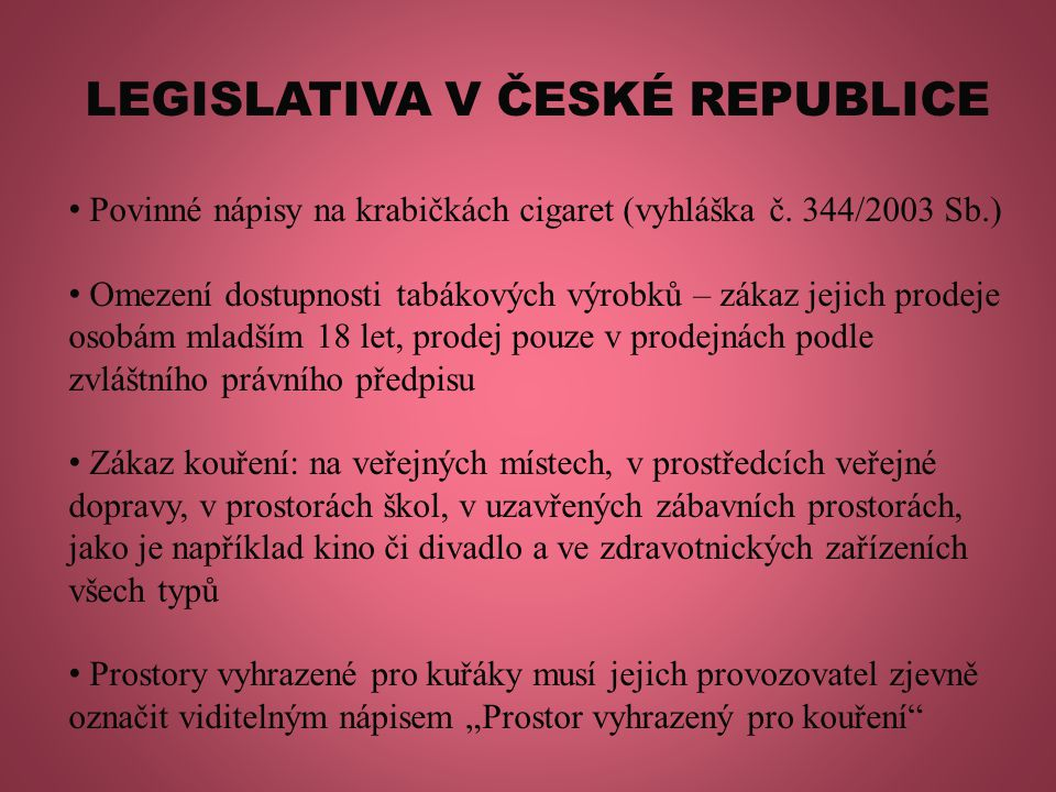 LEGISLATIVA V ČESKÉ REPUBLICE