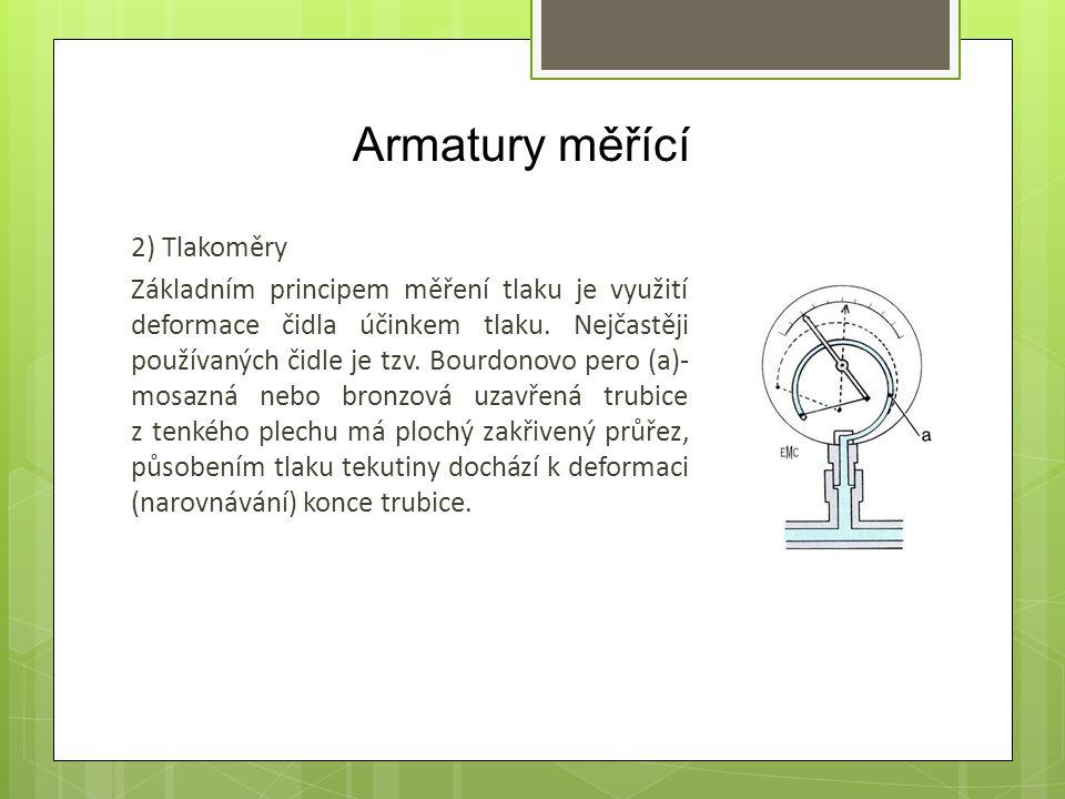 Armatury měřící 2) Tlakoměry