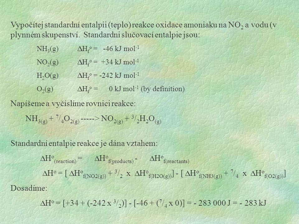 Napíšeme a vyčíslíme rovnici reakce: