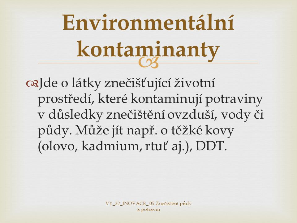 Environmentální kontaminanty