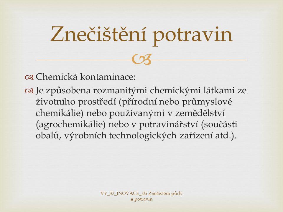 VY_32_INOVACE_ 05 Znečištění půdy a potravin