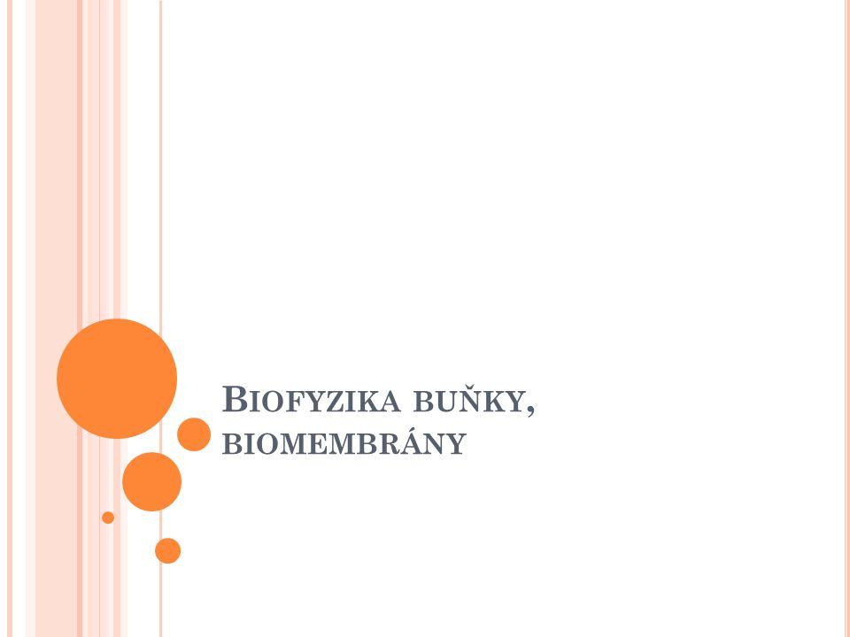 Biofyzika buňky, biomembrány