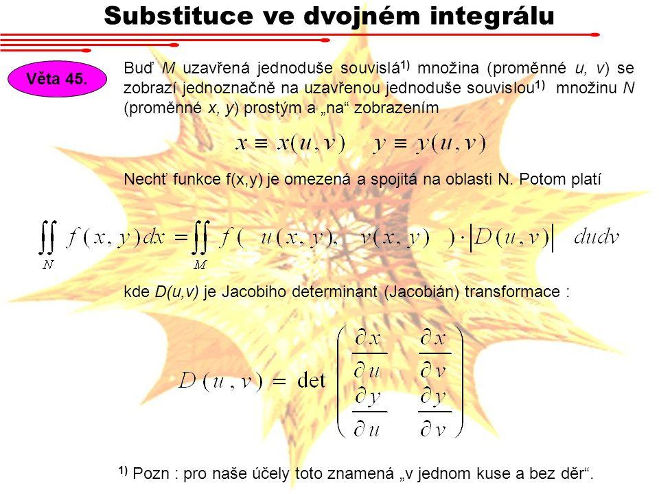 Substituce ve dvojném integrálu