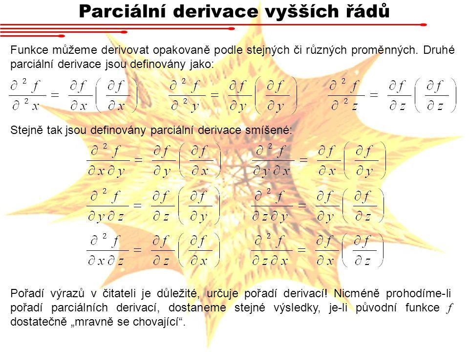 Parciální derivace vyšších řádů