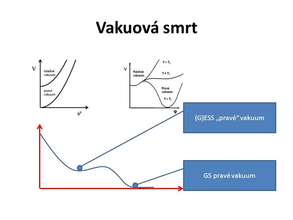 """Vakuová smrt (G)ESS """"pravé vakuum GS pravé vakuum"""
