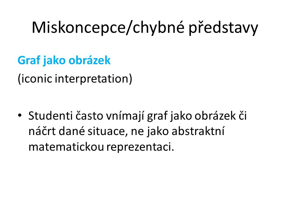 Miskoncepce/chybné představy