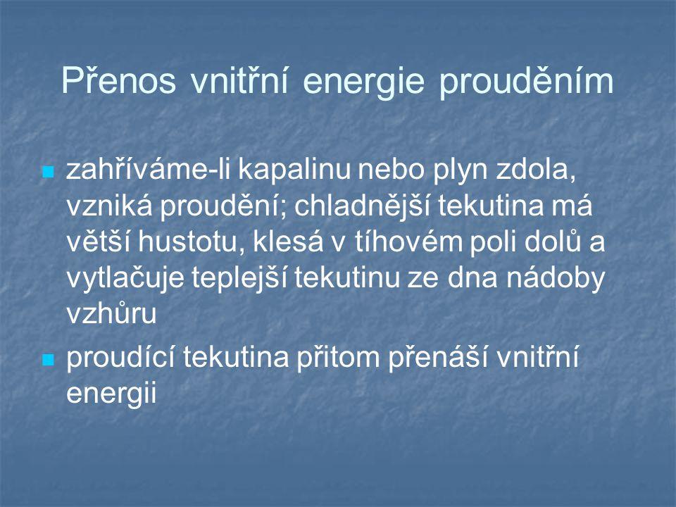 Přenos vnitřní energie prouděním