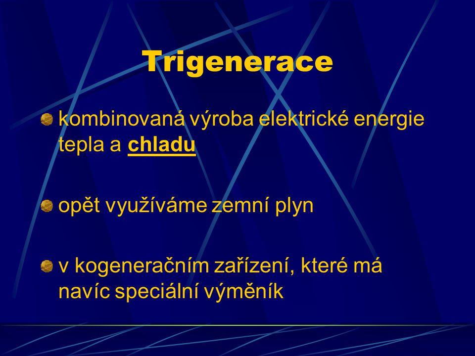 Trigenerace kombinovaná výroba elektrické energie tepla a chladu