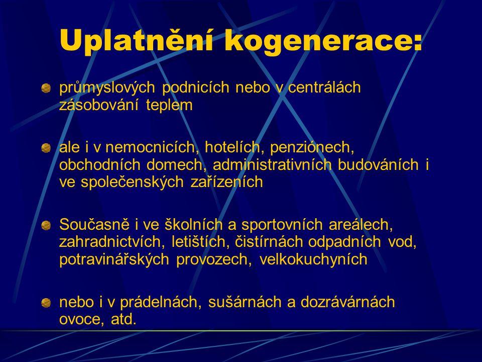 Uplatnění kogenerace: