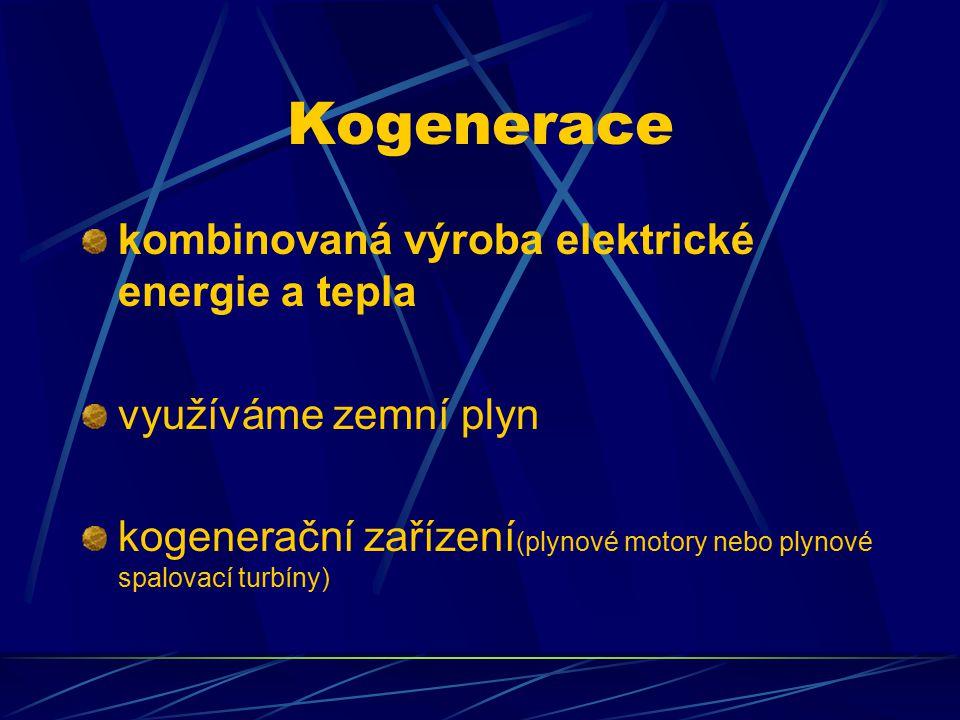 Kogenerace kombinovaná výroba elektrické energie a tepla