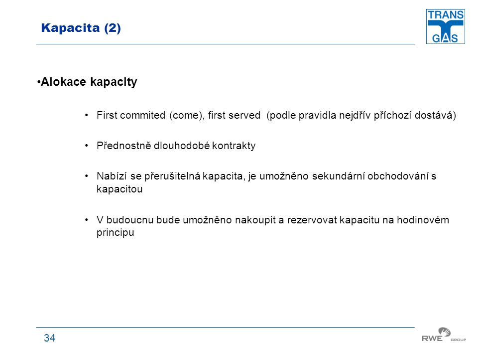 Kapacita (2) Alokace kapacity