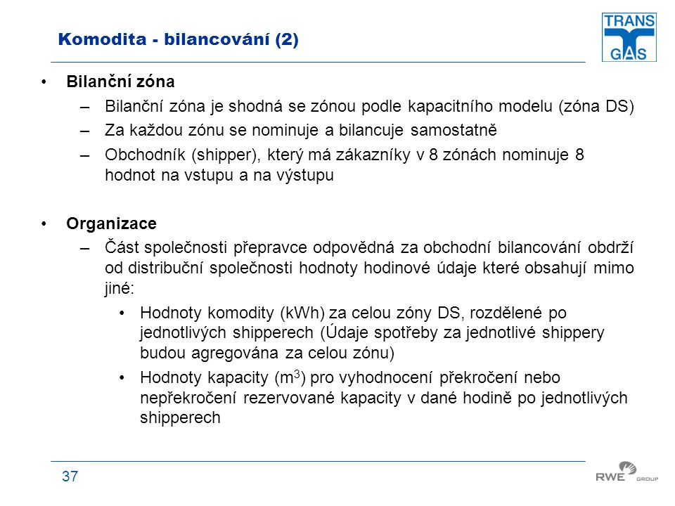 Komodita - bilancování (2)