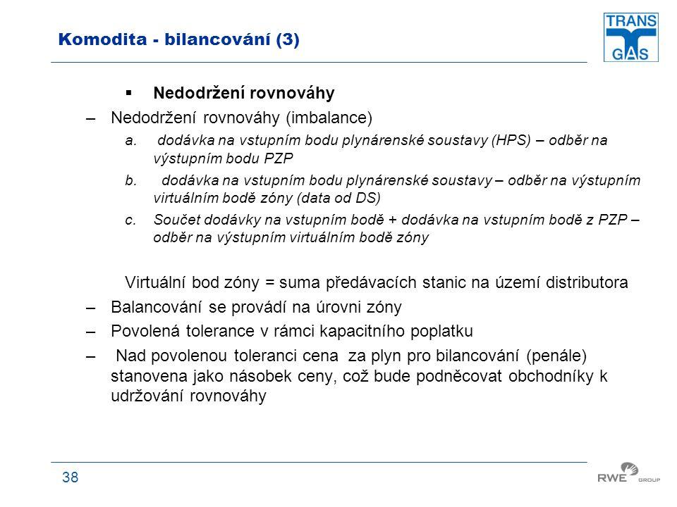Komodita - bilancování (3)