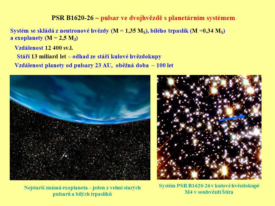 Systém PSR B1620-26 v kulové hvězdokupě M4 v souhvězdí Štíra