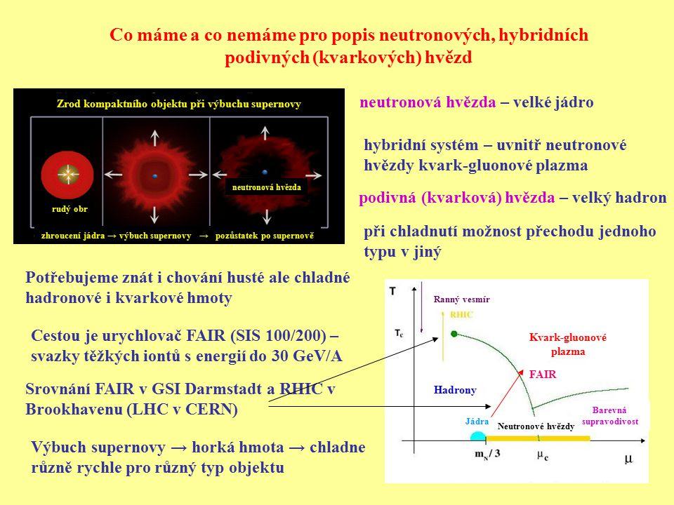 Co máme a co nemáme pro popis neutronových, hybridních