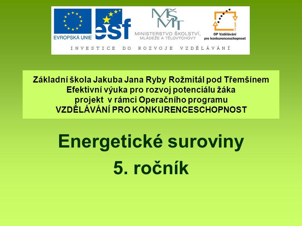 Energetické suroviny 5. ročník