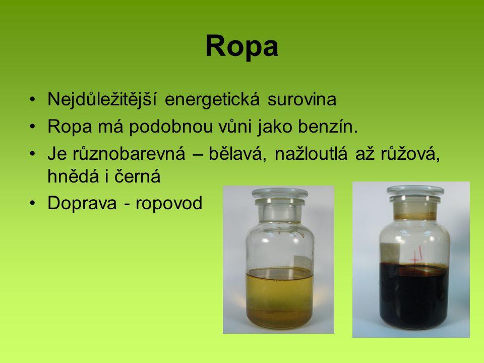 Ropa Nejdůležitější energetická surovina