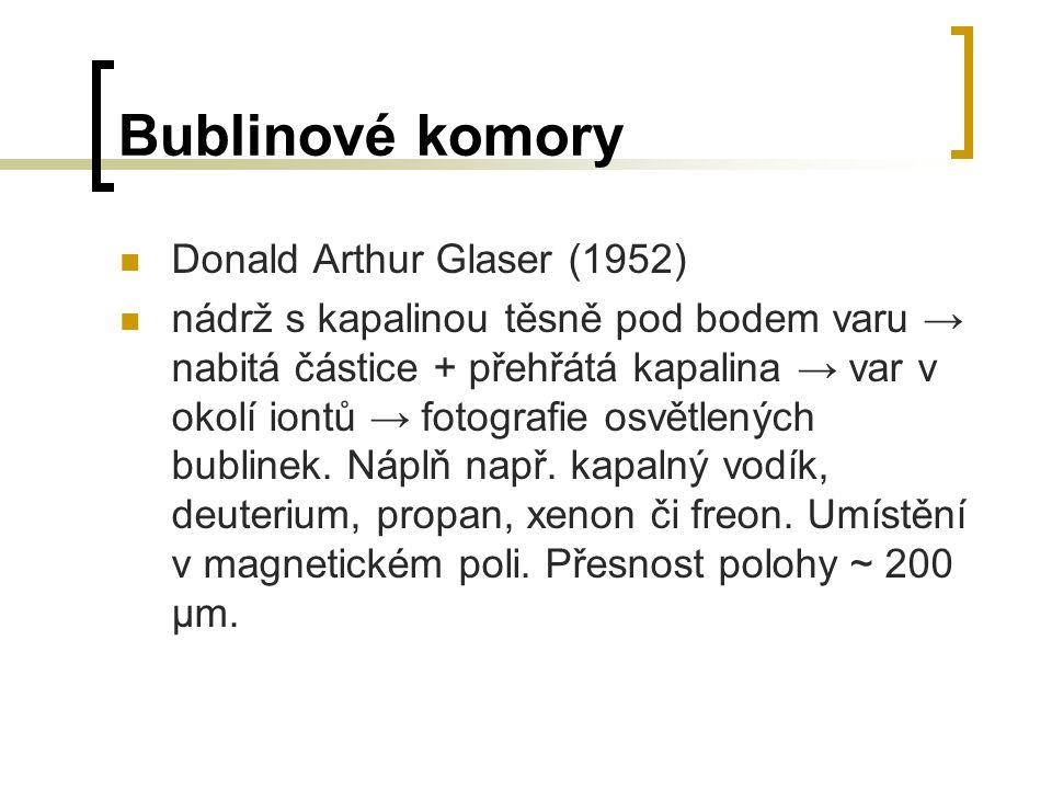 Bublinové komory Donald Arthur Glaser (1952)