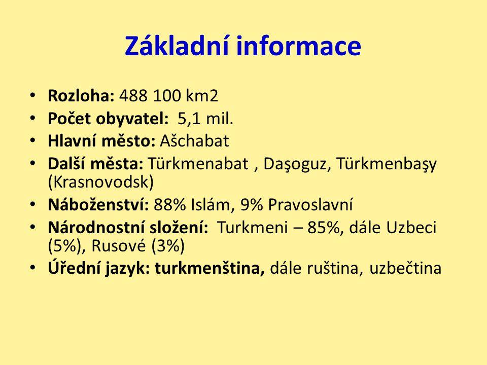 Základní informace Rozloha: 488 100 km2 Počet obyvatel: 5,1 mil.