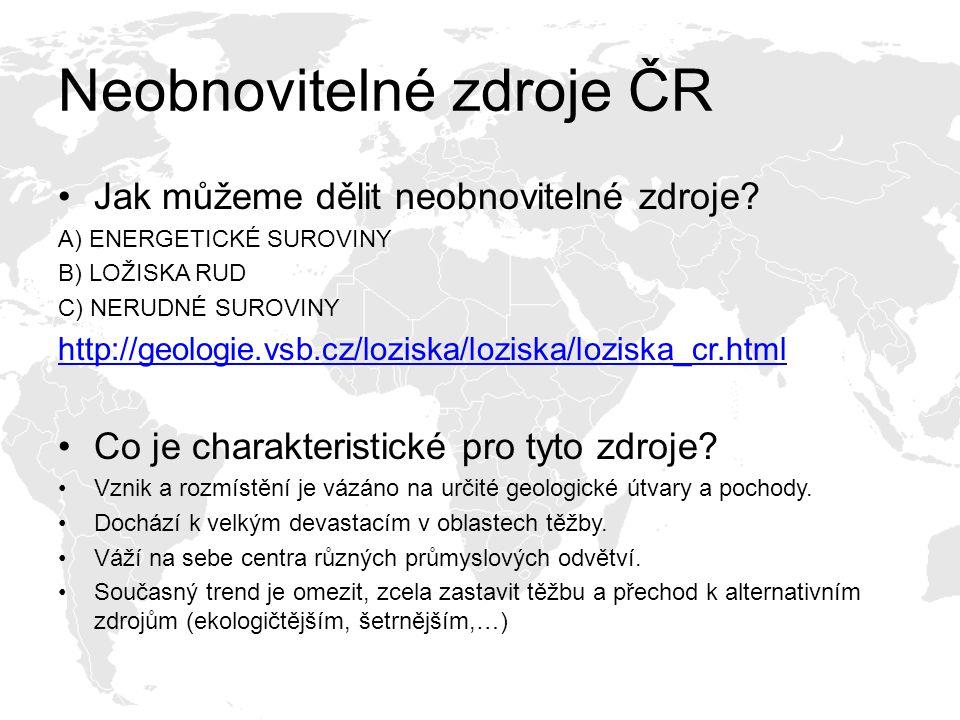Neobnovitelné zdroje ČR