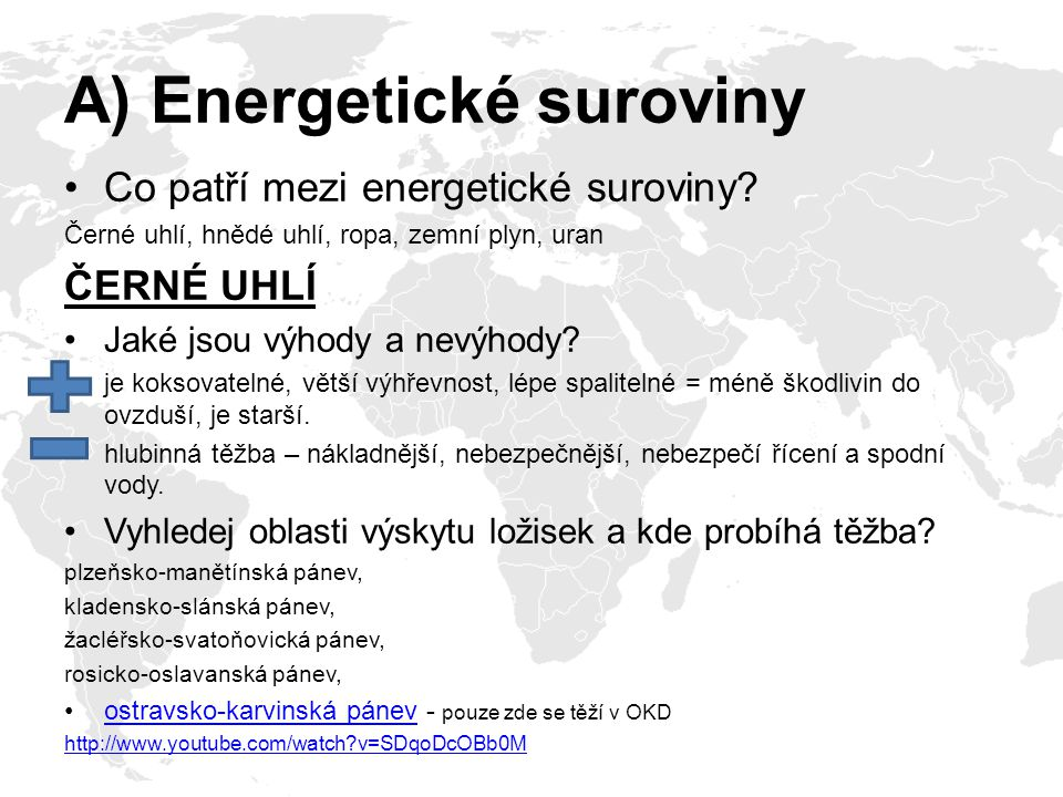 A) Energetické suroviny