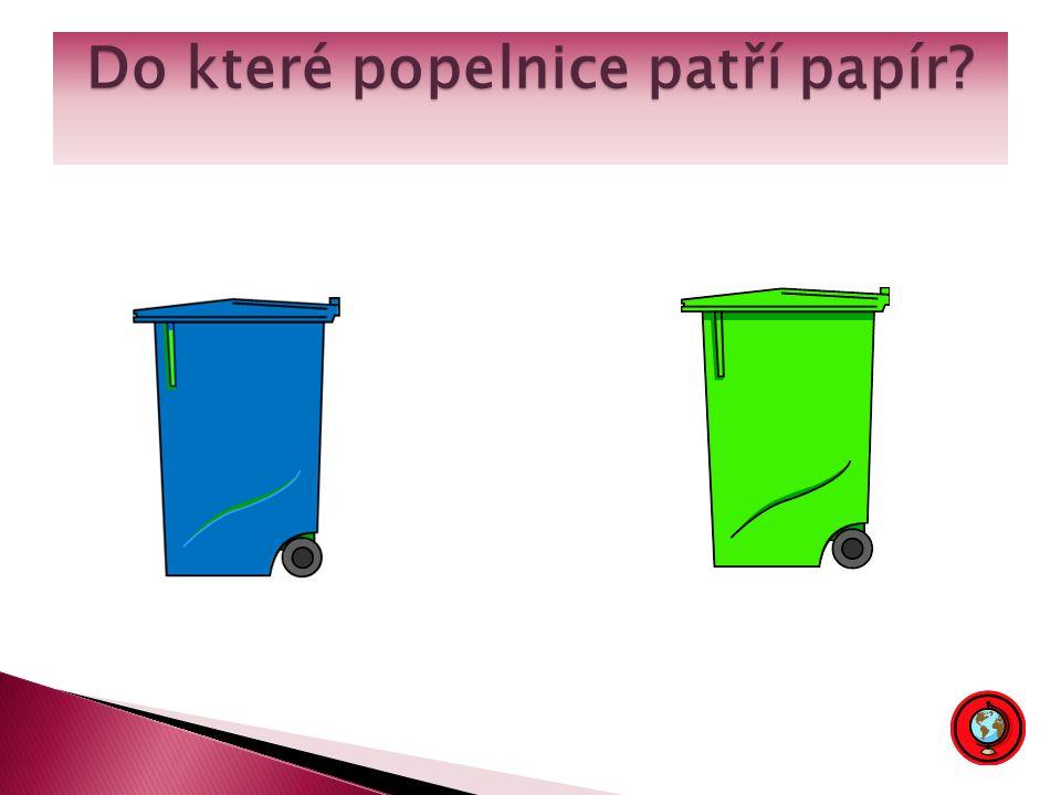 Do které popelnice patří papír