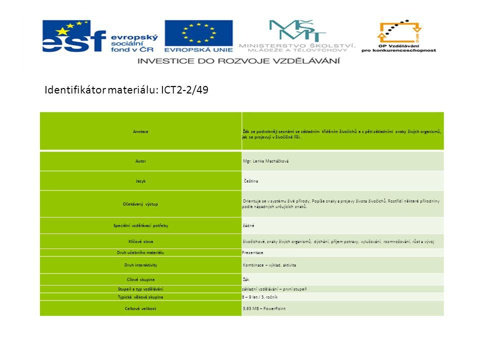 Identifikátor materiálu: ICT2-2/49