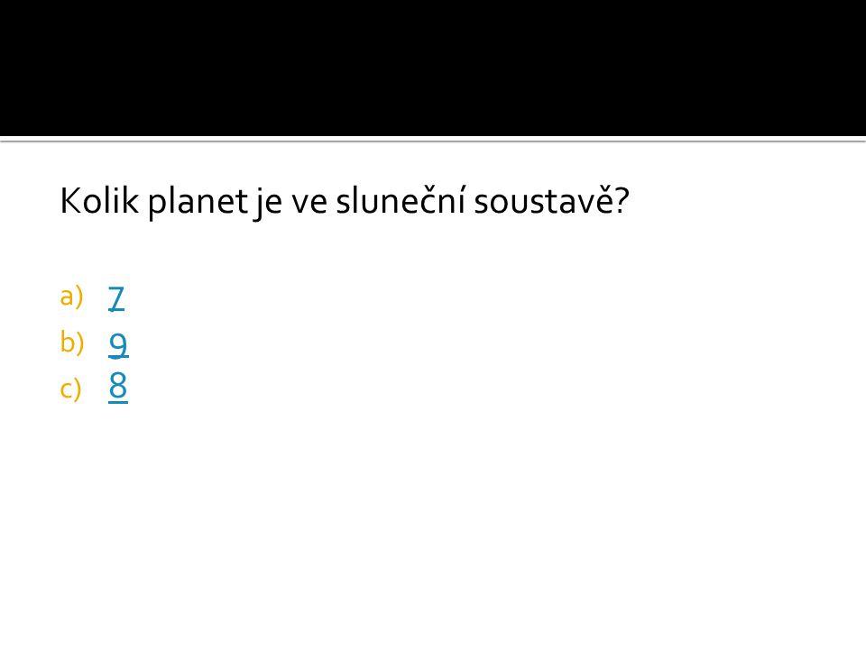 Kolik planet je ve sluneční soustavě
