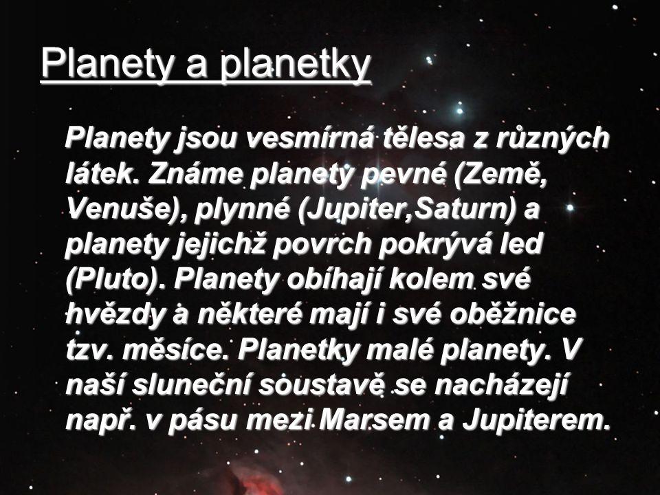 Planety a planetky