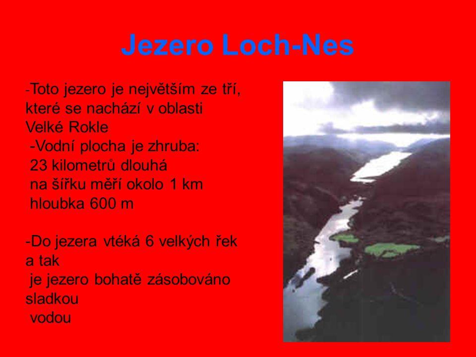 Jezero Loch-Nes -Vodní plocha je zhruba: 23 kilometrů dlouhá