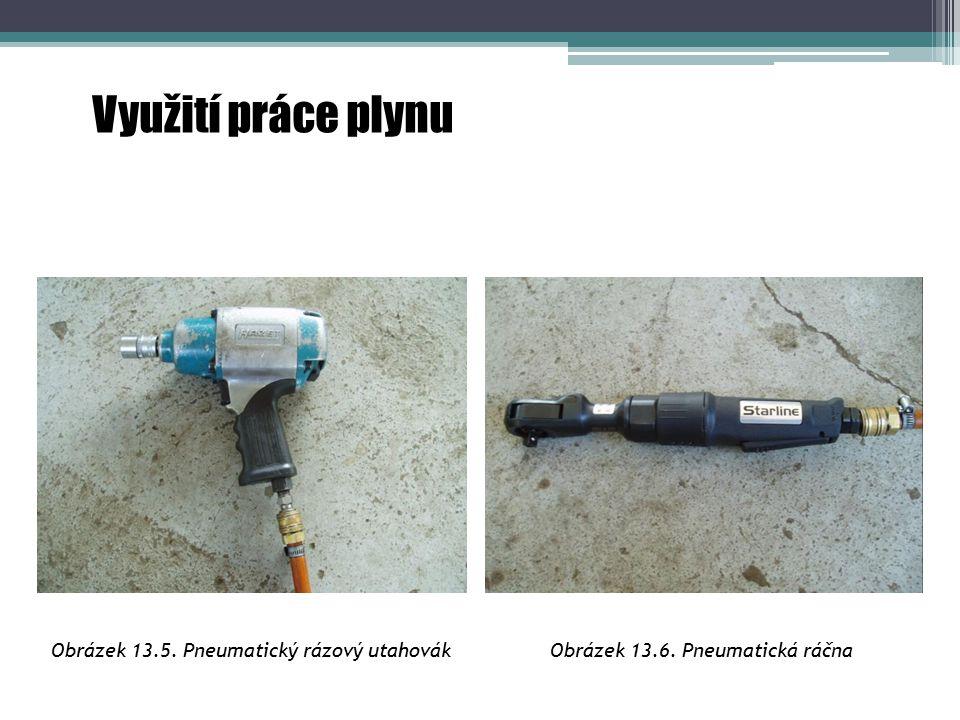 Využití práce plynu Obrázek 13.5. Pneumatický rázový utahovák