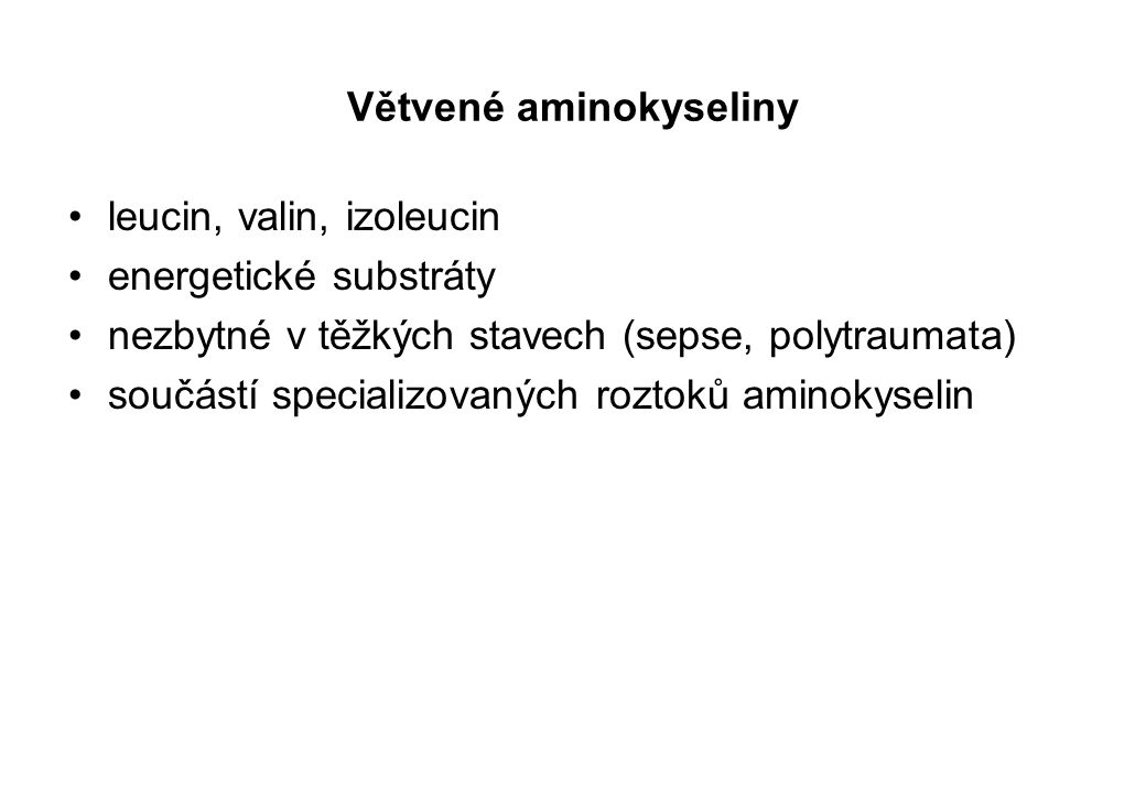 Větvené aminokyseliny