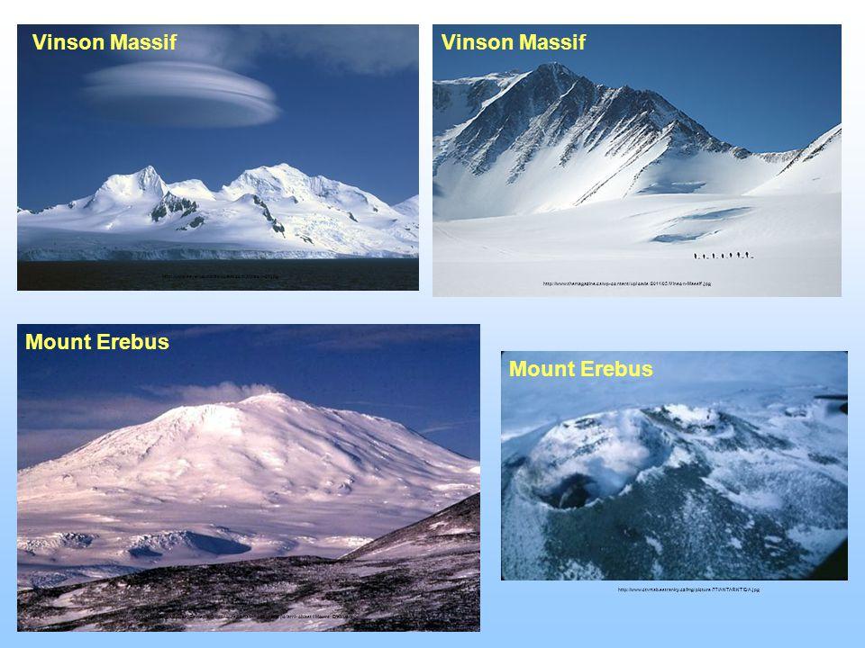 Vinson Massif Vinson Massif Mount Erebus Mount Erebus