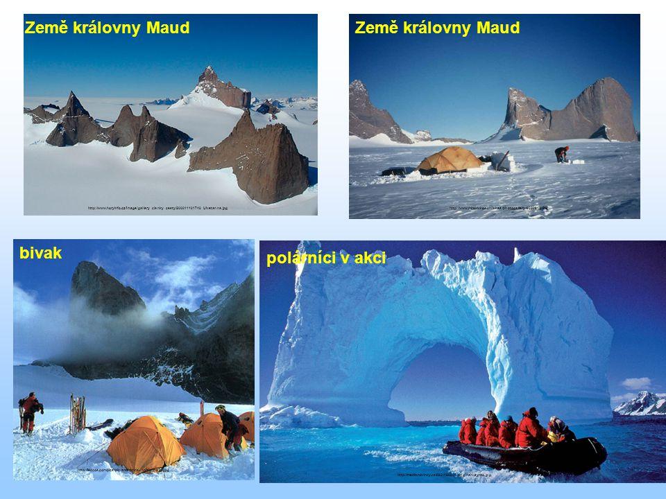 Země královny Maud Země královny Maud bivak polárníci v akci