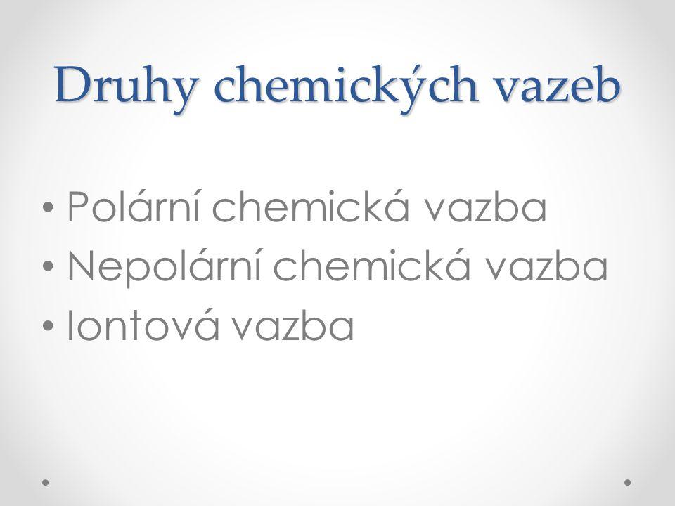 Druhy chemických vazeb
