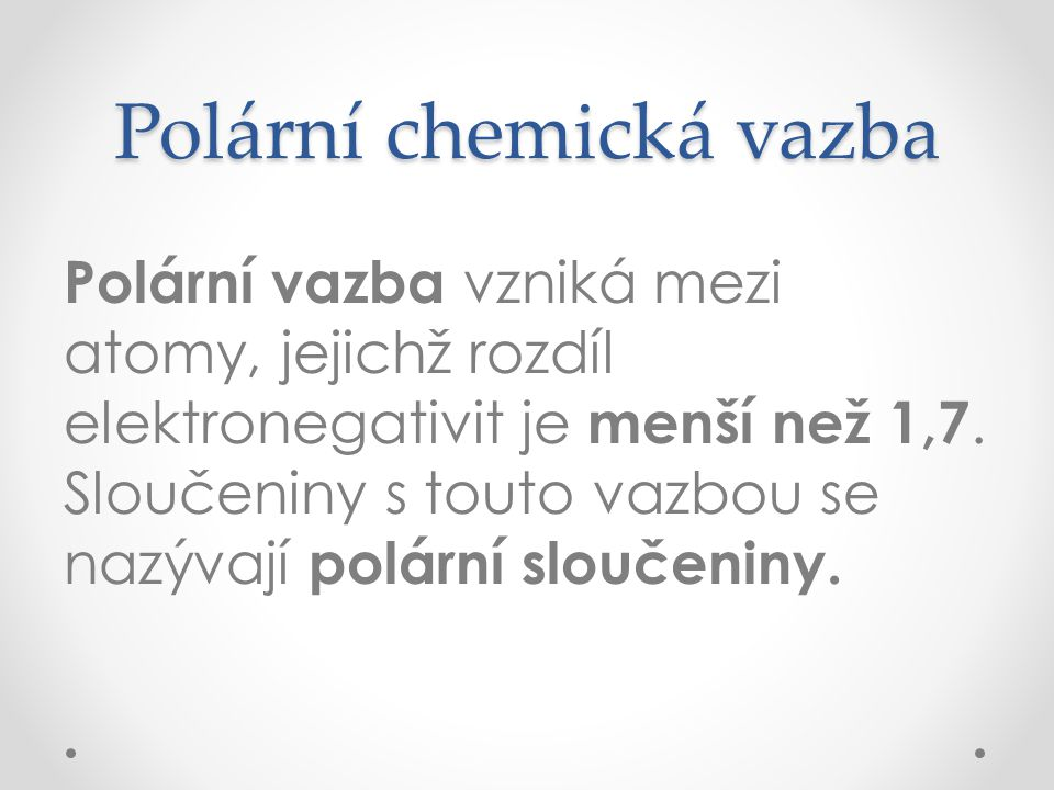 Polární chemická vazba