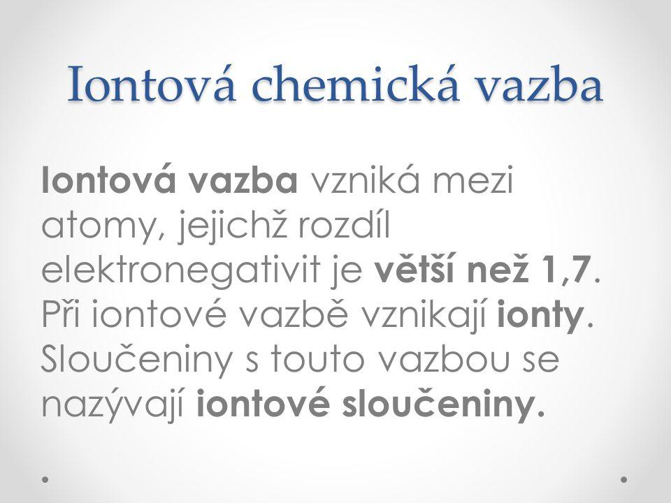 Iontová chemická vazba